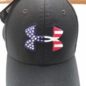 NWT Mens M/L Under Armour Baseball Hat Black